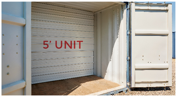 5 Foot Storage Unit Twin Cities